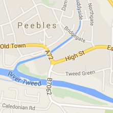 peebles - Location map - Peebles town map